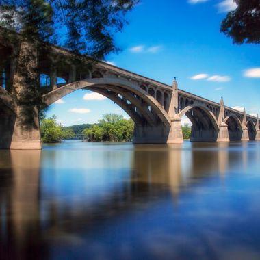 Long exposure of the DDay - Veterans Memorial Bridge