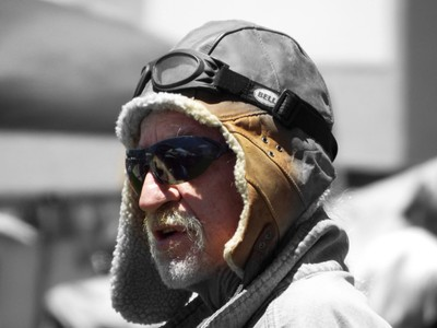 Leather Flight Helmet Portrait