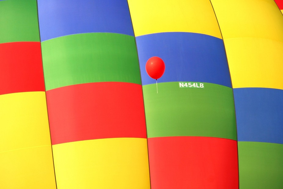 """""""Celebration"""" is a Hot Air Balloon, owned & piloted by Mark Enszer of Saginaw, Mich..."""