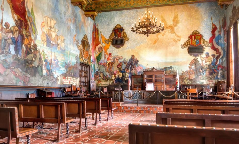 Mural Room at the Santa Barbara Courthouse