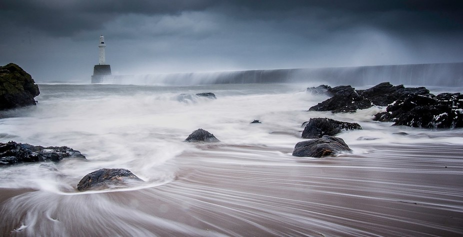 Storm at Aberdeen Harbour