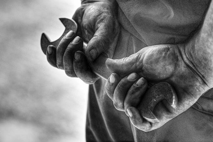 Working hands by warrenstowell - Shooting Hands Photo Contest