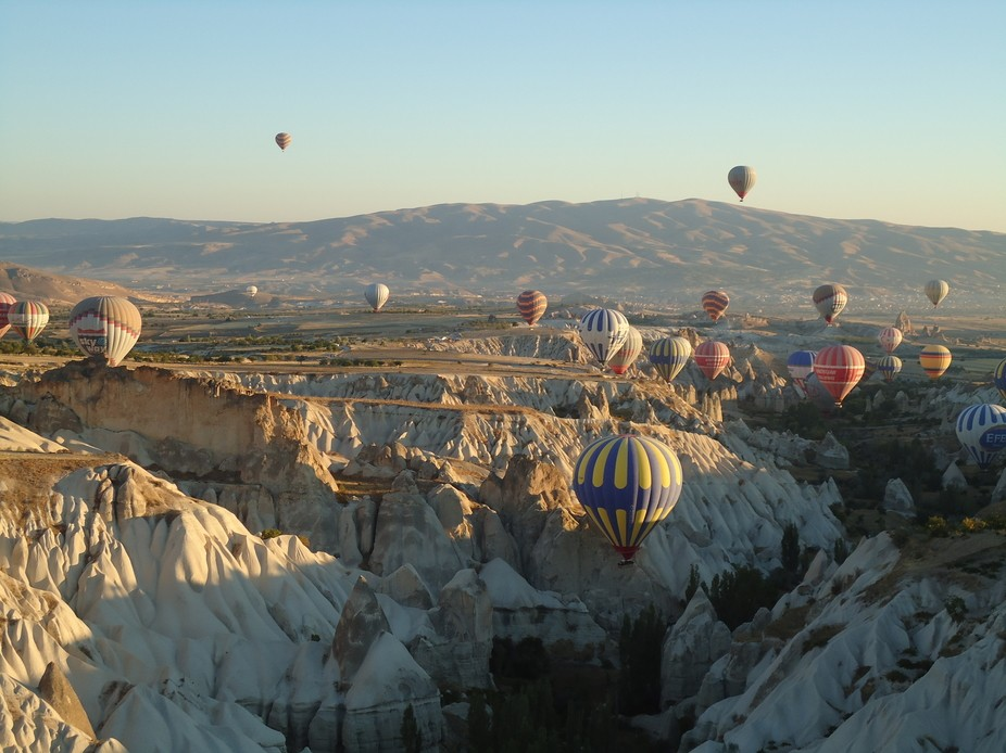 Hot Ballons over Capadocia, Turkey