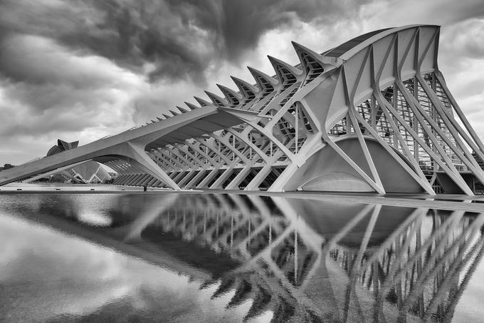 City of Arts and Sciences by pnewbery - A Black And White World Photo Contest