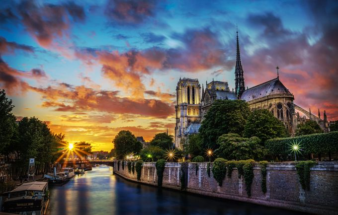 Notre-Dame Sunset by MichelJodoin - Sunset In The City Photo Contest
