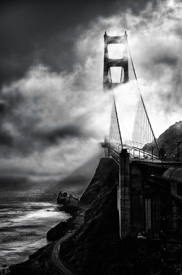 Golden Gate Bridge by KanaPhotography - A Black And White World Photo Contest