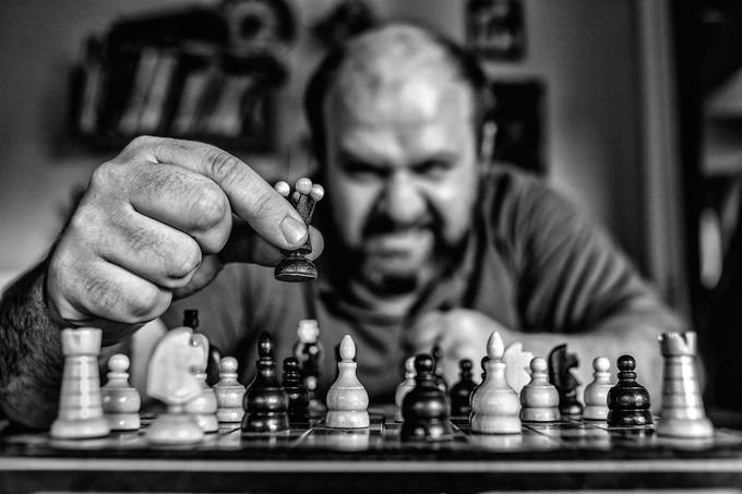 Checkmate !!! by Chris_Photoshooter - Selfies In Black and White Photo Contest