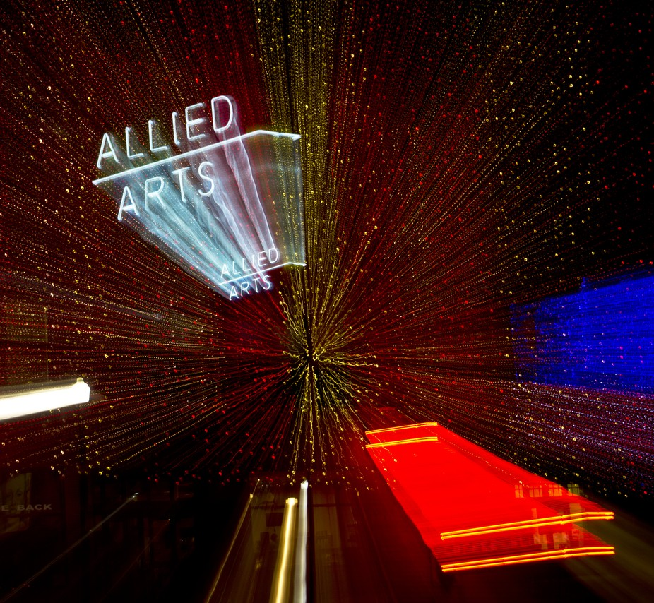 Playing with light, Christmas at the Allied Arts Building in OKC