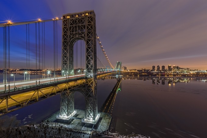 George Washington Bridge for SuperBowl by EduardMoldoveanu