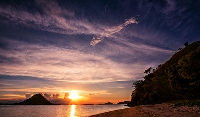Sunset on the Kelor Island