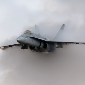 Hornet pulling vapor tinkering with the barrier.