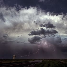 An electrifying storm on the south side of Pueblo, Colorado on 8/14/13.