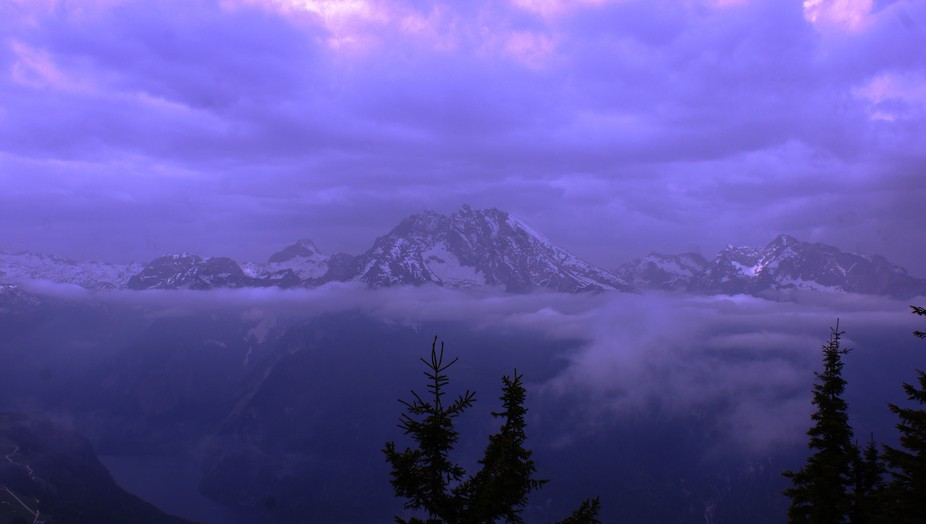 Picture taken from Kehlsteinhaus in Germany in May.  They had snow the week before,  There was a ...