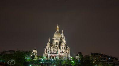 Sacré Coeur Paris @ Night