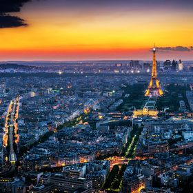 A night view of Paris in spring