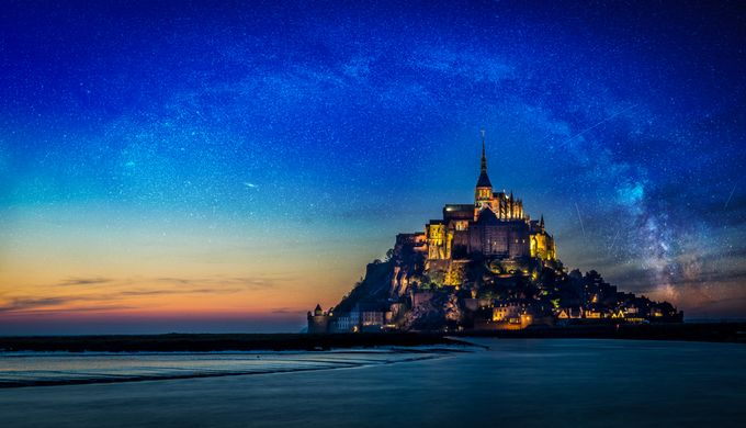 Mont St-Michel et Voie lactée by MichelJodoin - Discover Europe Photo Contest