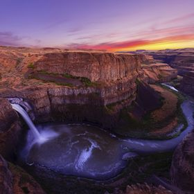 Palouse Falls at Dusk