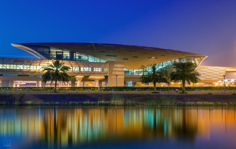 Mall of the Emirates metro station, located in Dubai, united arab emirates.