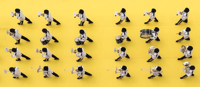 Marching band by JayLawler - Bold Colors Photo Contest