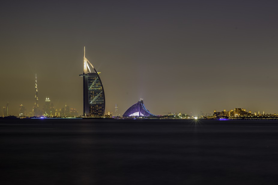 This shot was obviously taken in Dubai, United Arab Emirates in front of the Atlantis Hotel.