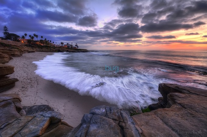 Rocky Shoreline by Eddie_Yerkish - Nature In HDR Photo Contest