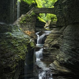 Rainbow Falls in Watkins Glen, NY