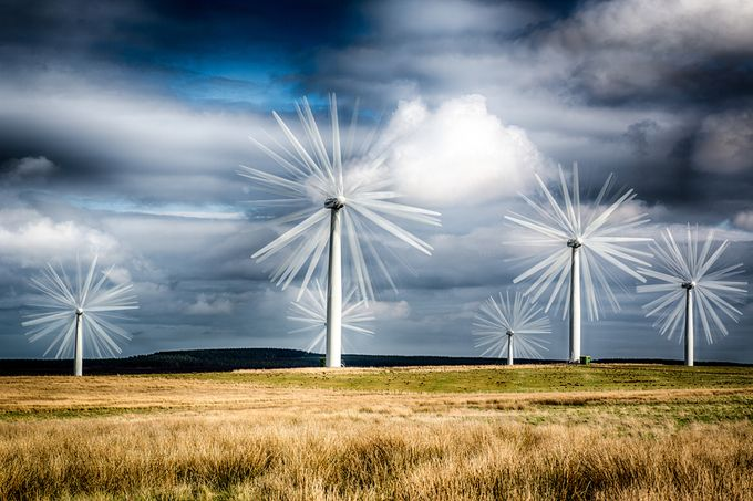 Wind Farm 2 by PaulPersys - Showing Movement Photo Contest