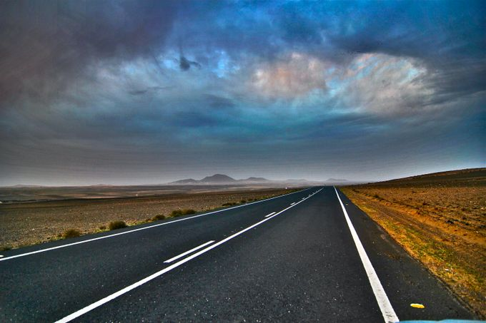 Lanzarote road by felicebellini - The Moving Clouds Photo Contest