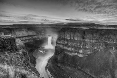Colorless Palouse Falls