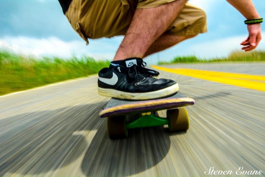 skateboard selfie