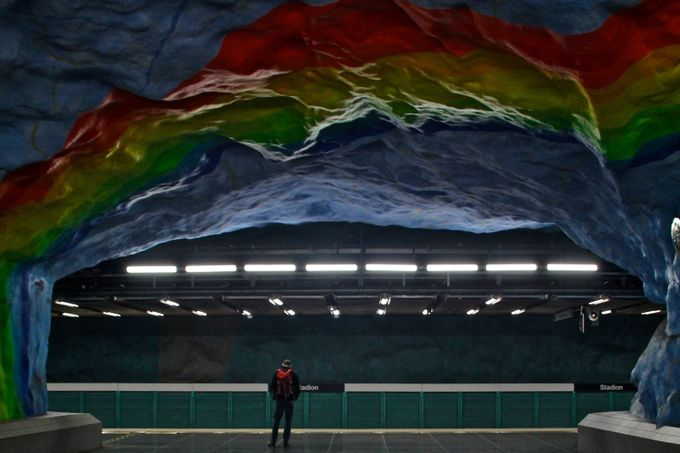under the rainbow by Robert222 - Public Transport Hubs Photo Contest
