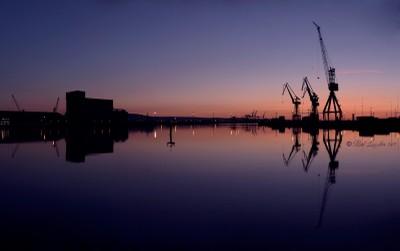 Dawn at the docks