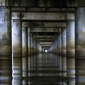 Taken under the Atchafalaya Basin Bridge near Lafayette, LA.