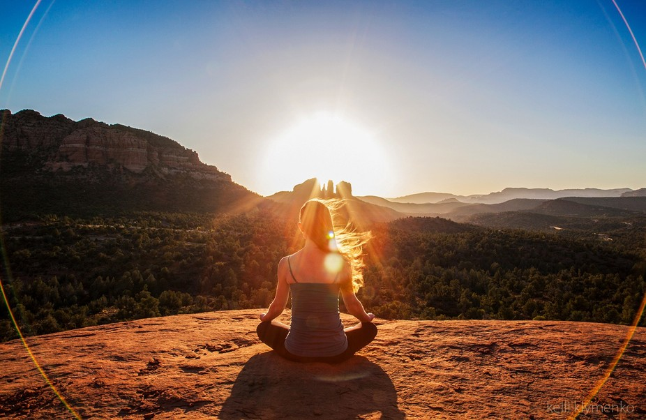 Sunset Meditation - Photographed for the Sedona Chamber of Commerce marketing campaign and televi...