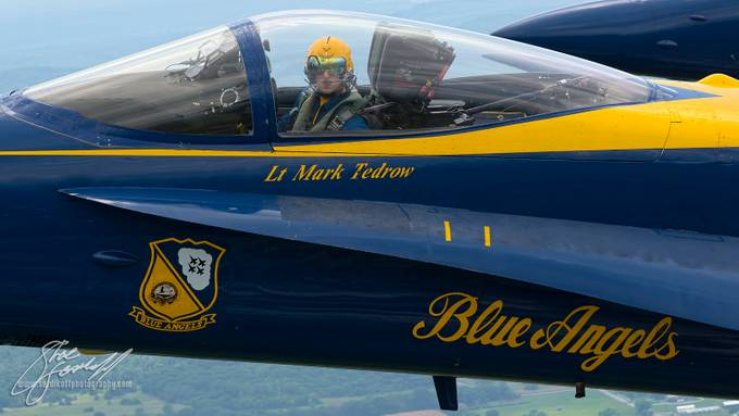 Blue Angel Closeup by THREEWIRE-Images