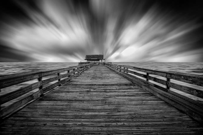 The Pier by CurtisReese - Black And White Compositions Photo Contest