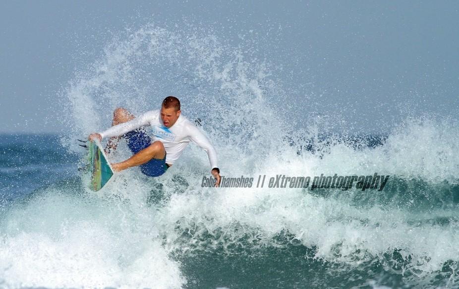 An Israeli surfer performing some cool tricks.  Refreshing, isn\'t it?