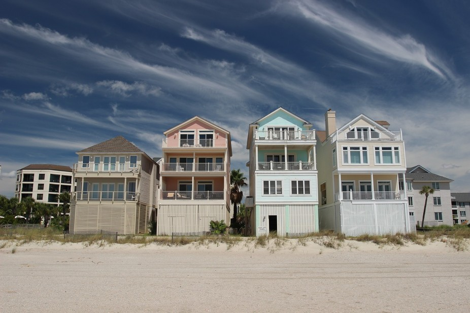 Houses on Isle of Palms, SC