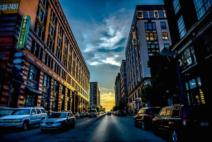 Sundown in the City by iceman2 - Sunset In The City Photo Contest