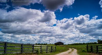 barn and sky