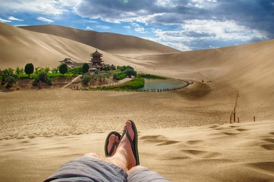 Dunhuang Oasis View