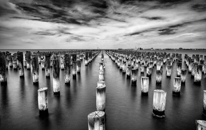 Princes Wharf by MaggieM1 - A World In Black And White Photo Contest