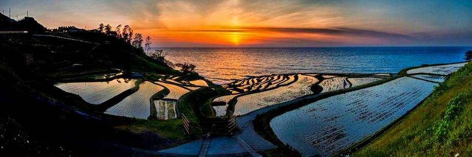 This is Senmaida in Noto Peninsula in Ishikawa, Japan.    Senmaida means 1,000 rice fields. This ...