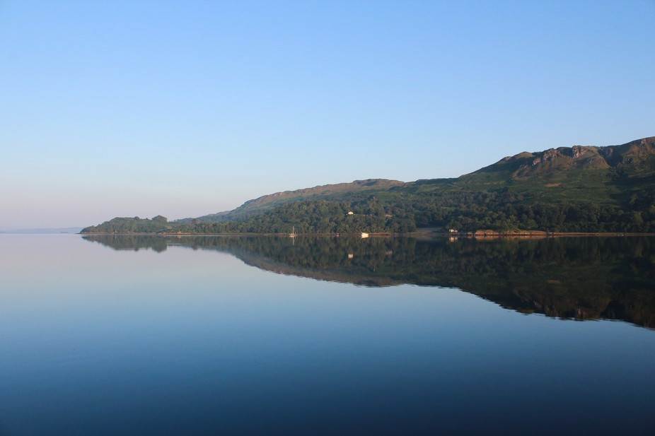 A view of Loch Melfort in the early morning. Approximately 15 miles south of Oban on the West coa...