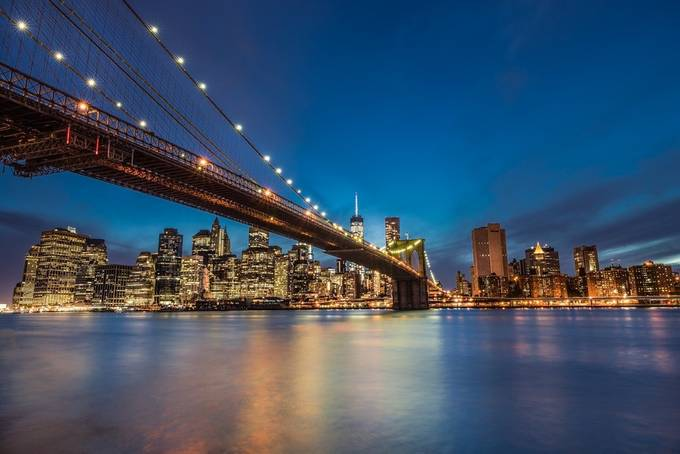 Manhattan Skyline by larrymarshall - City In The Night Photo Contest