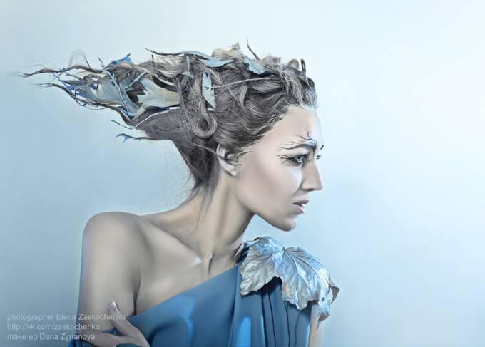 Golubenko Olga_beatiful woman with fantasy hair by olenazaskochenko - A Fantasy World Photo Contest