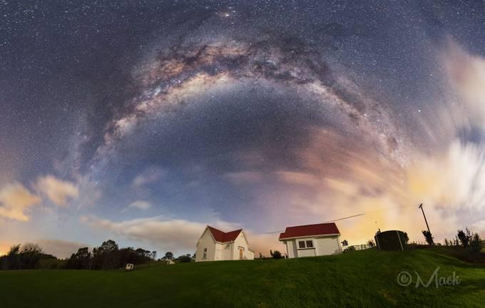 Mahurangi West Hall Milky Way panorama by Mike_MacKinven