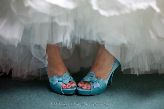 Bridal Feet in Turquoise by cherylcaffarellawilson - Anything Wedding Photo Contest