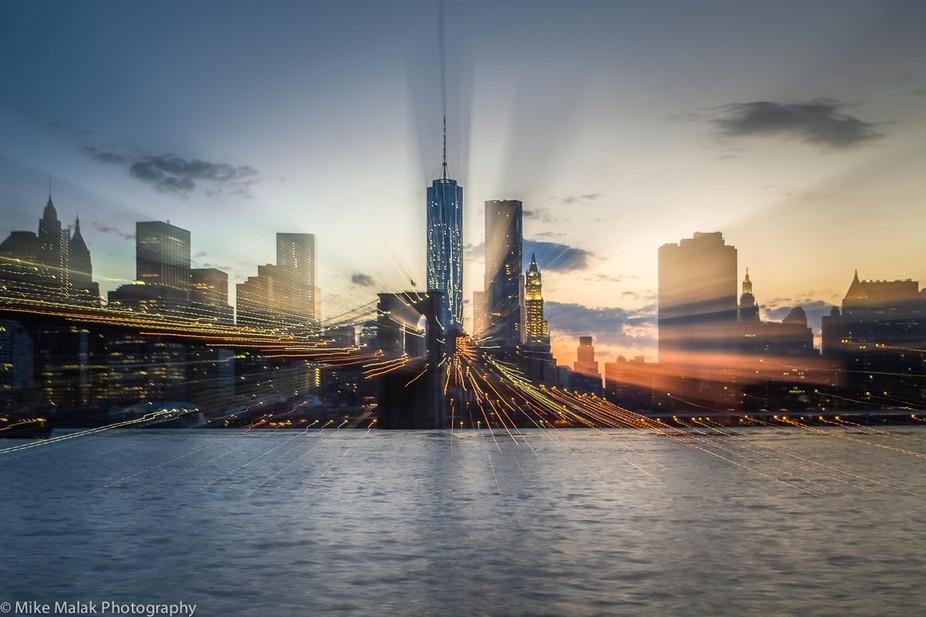 Brooklyn Bridge & Manhattan City, NY