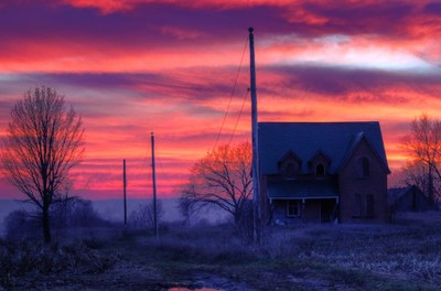 Sunset at the Haunted House